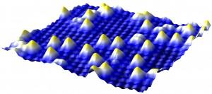 Einzelne Atome auf einer Oberfläche